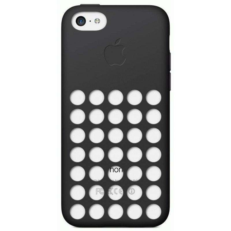 Чехол Apple iPhone 5c Leather Case Black (MF040)