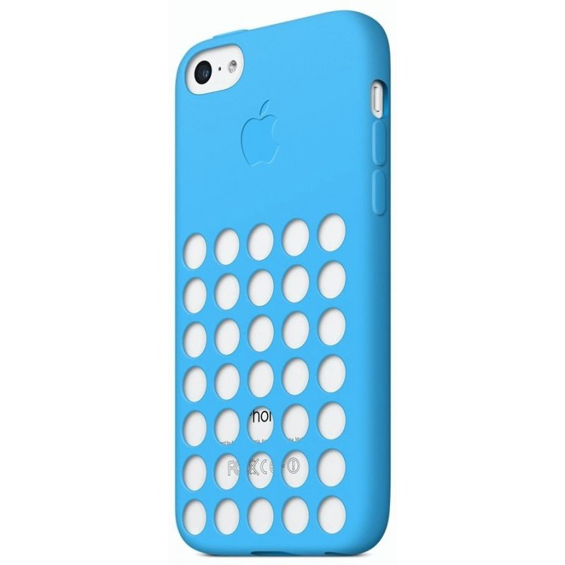Чехол Apple iPhone 5c Leather Case Blue (MF035)