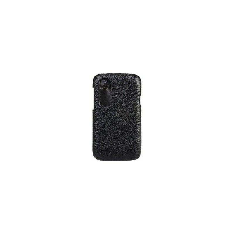 Кожаный чехол Melkco Face Cover Book для HTC Desire V T328e Black