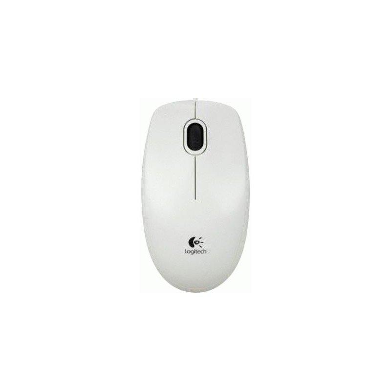 Мышь компьютерная Logitech B100 USB White