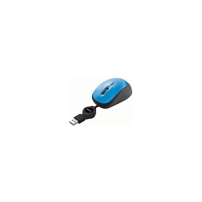 Мышь компьютерная Trust Yvi Retractable Mouse Blue