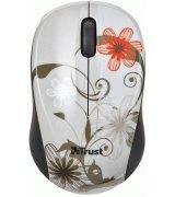 Мышь компьютерная Trust Vivy Wireless Mini Mouse Grey Flowers