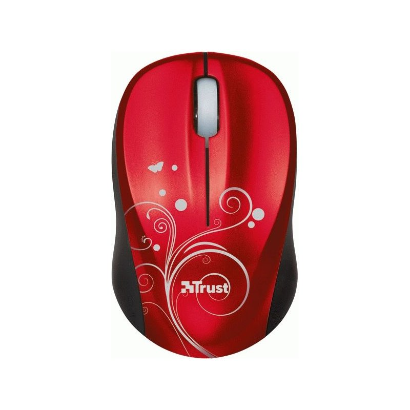 Мышь компьютерная Trust Vivy Wireless Mini Mouse Red Swirls