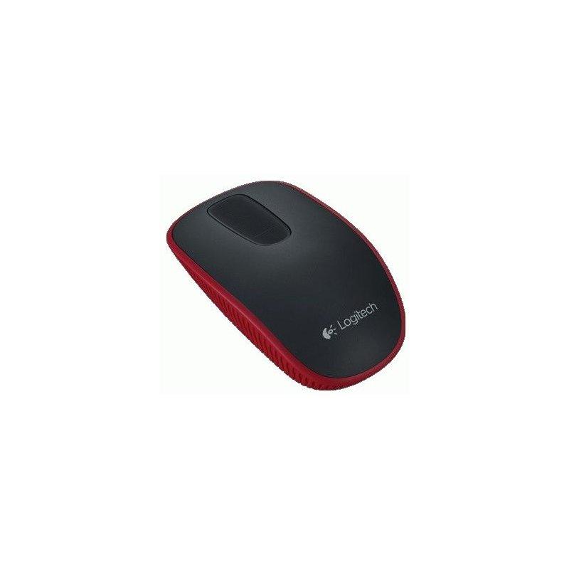 Мышь компьютерная Logitech Wireless Zone Touch Mouse T400 Red