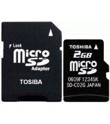 Карта памяти TOSHIBA microSD 2 GB (+ SD адаптер)