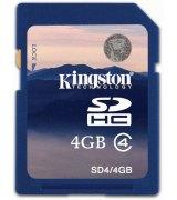 Карта памяти Kingston SDHC 4 GB Class 4