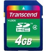 Карта памяти Transcend SDHC 4 GB Class 4