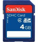 Карта памяти Sandisk SDHC 4 GB Class 4
