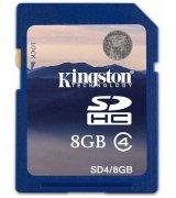 Карта памяти Kingston SDHC 8 GB Class 4