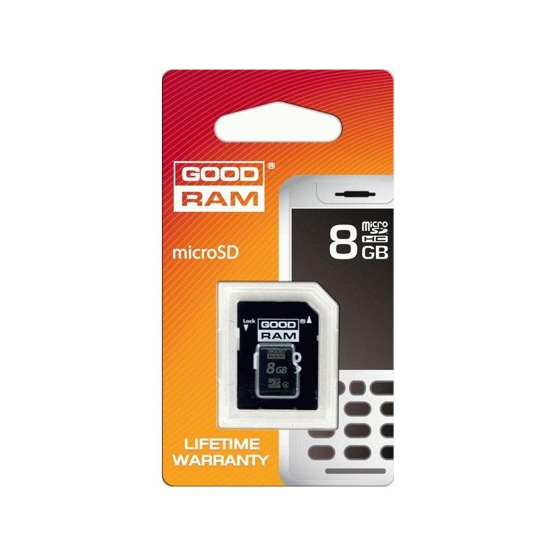 Карта памяти GOODRAM microSDHC 8 GB Class 4 (+ адаптер Retail 10)