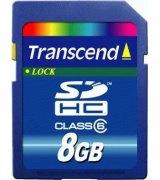 Карта памяти Transcend SDHC (SD2.0 Class 6) 8 GB
