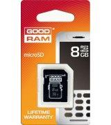Карта памяти GOODRAM microSDHC 8 GB Class 10 (+ адаптер Retail 10)