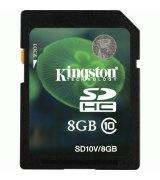 Карта памяти Kingston SDHC 8 GB Class 10 Entry Level