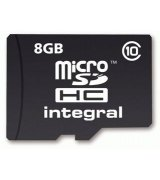 Карта памяти Integral microSDHC 8 GB Class 10 UltimaPro (+ адаптер)