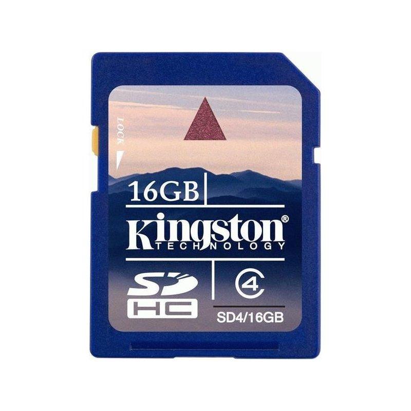 Карта памяти Kingston SDHC 16 GB Class 4