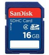 Карта памяти Sandisk SDHC 16 GB Class 4