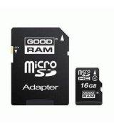 Карта памяти GOODRAM microSDHC 16 GB Class 4 (+ адаптер)