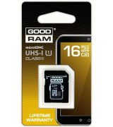 Карта памяти GOODRAM microSDHC 16 GB Class 10 UHS I (+ адаптер Retail 10)