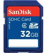 Карта памяти Sandisk SDHC 32 Gb Class 4