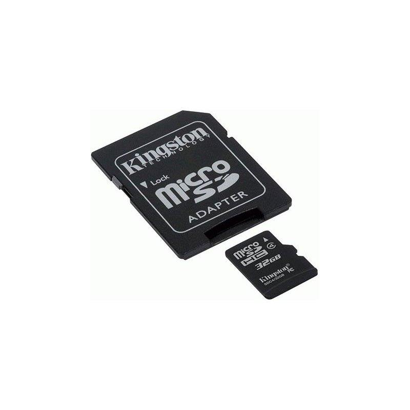 Карта памяти Kingston microSD 32 GB Class 4 (+ SD адаптер)