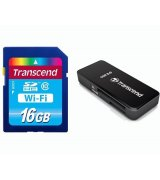 Карта памяти Transcend SDHC 16 GB Class 10 Wi-Fi