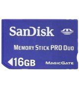 Карта памяти Sandisk Memory Stick Pro Duo 16 GB