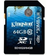 Карта памяти Kingston SDXC 64 GB G3 Class 10 UHS-I Elite