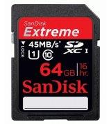 Карта памяти Sandisk SDXC 64 GB Video Extreme