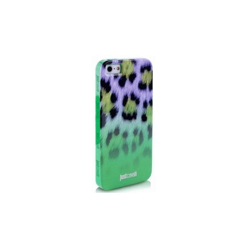 Puro Just Cavalli Macro Leopard накладка для iPhone 5/5S Green