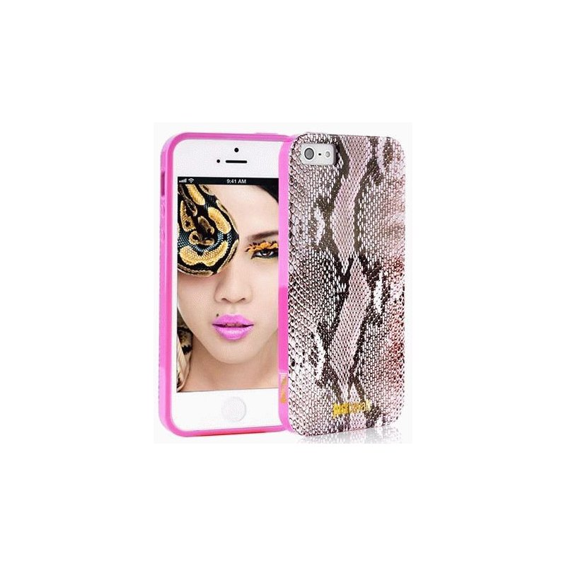 Puro Just Cavalli Micro Piton накладка для iPhone 5/5S Pink