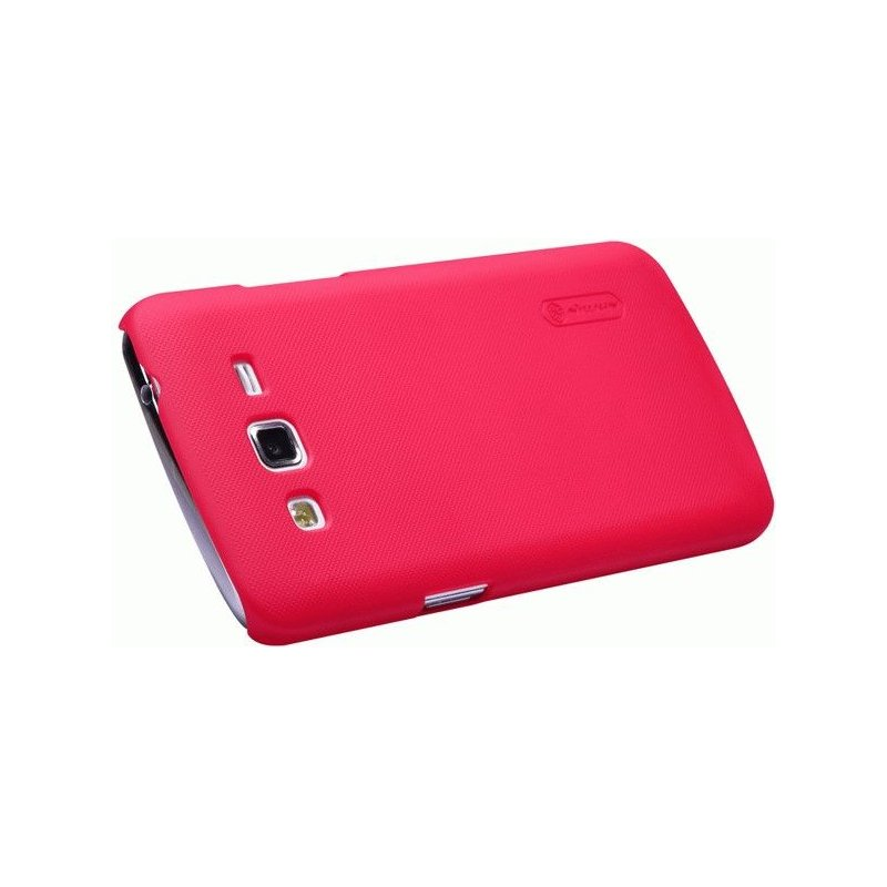 Пластиковая накладка Nillkin Super Frosted Shield для Samsung Galaxy Grand 2 Duos G7102 Red