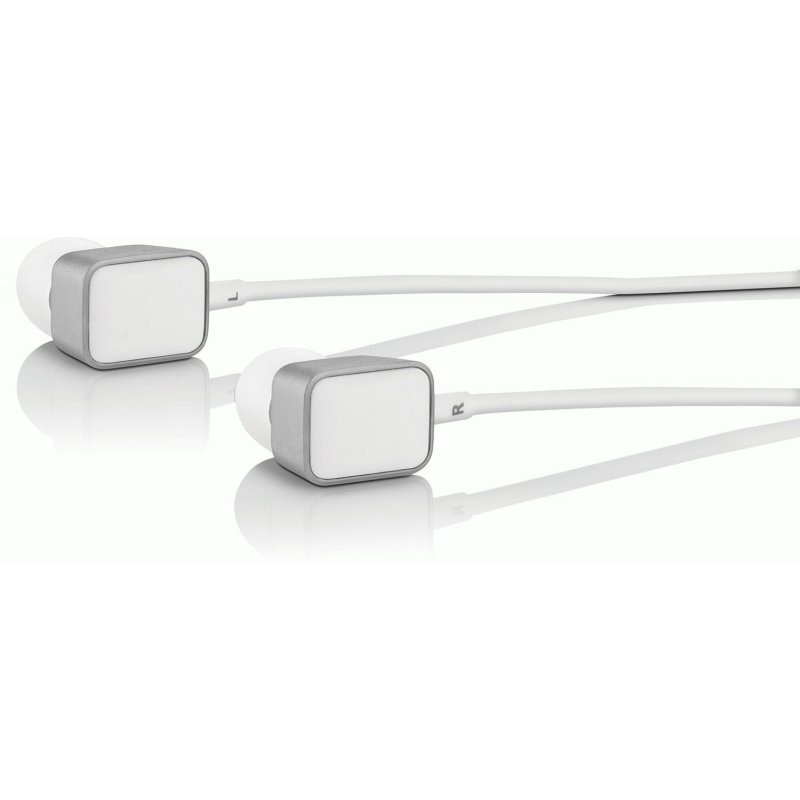 Harman Kardon AE Acoustically Enhanced Isolating In-Ear Headphones MFI White (HAR/KAR-AE-W)