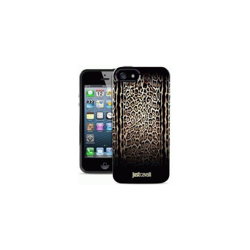 Puro Just Cavalli Leopard Piton Black накладка для iPhone 5/5S