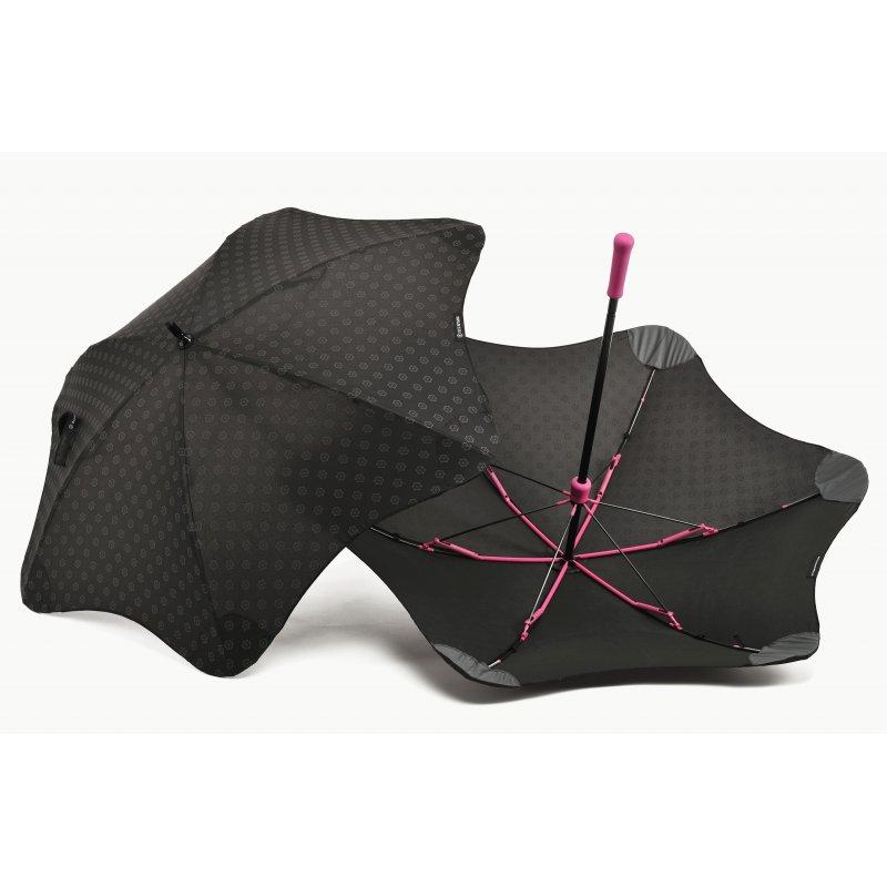 Зонт Blunt Mini+ Black/Pink (черный-розовый)