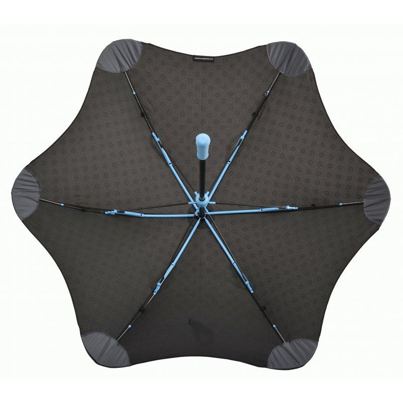 Зонт Blunt Mini+ Black/Blue (черный-голубой)