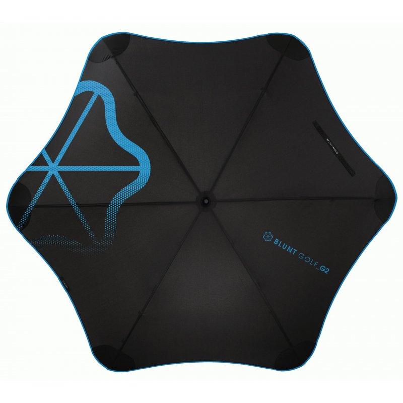 Зонт Blunt Golf_G2 Blue (черный/голубой)
