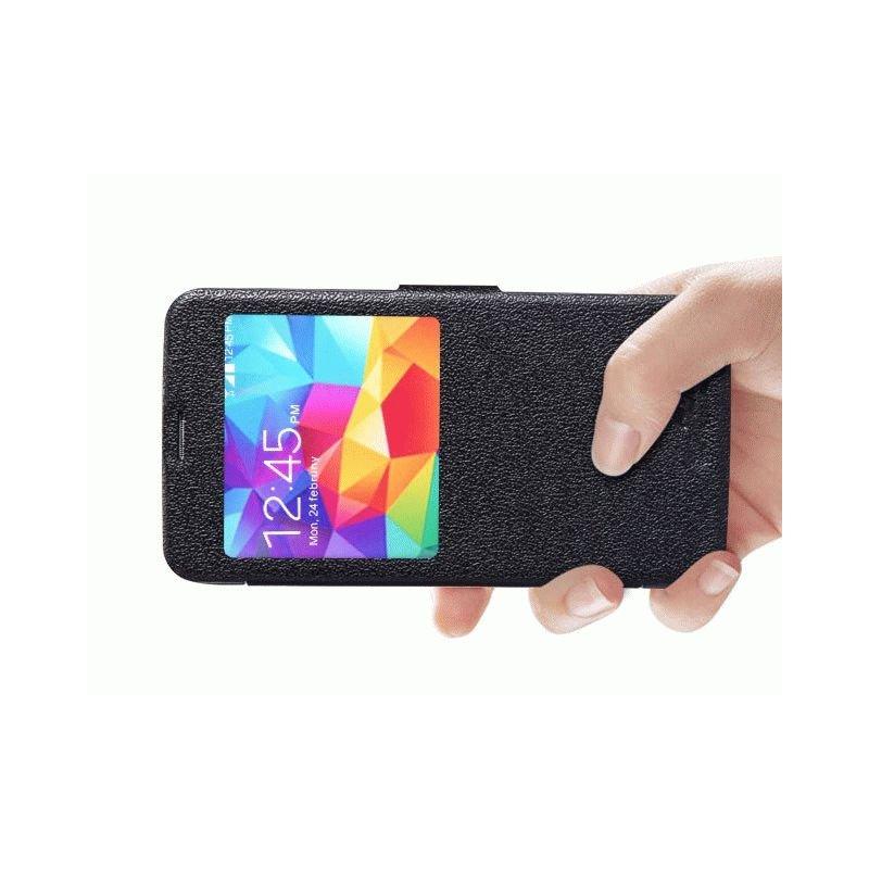 Кожаный чехол Nillkin Fresh для Samsung Galaxy S5 Black