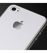 SGP Leather White Skin Guard Set Series для Apple iPhone 4/4s