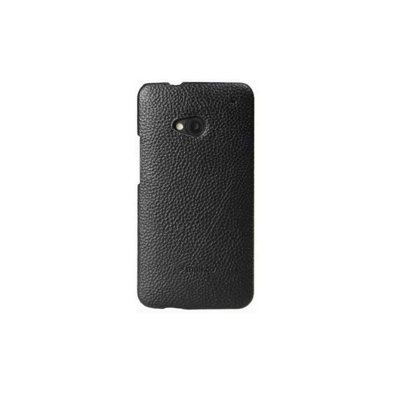 Melkco кожаная накладка  для HTC One 801e Black