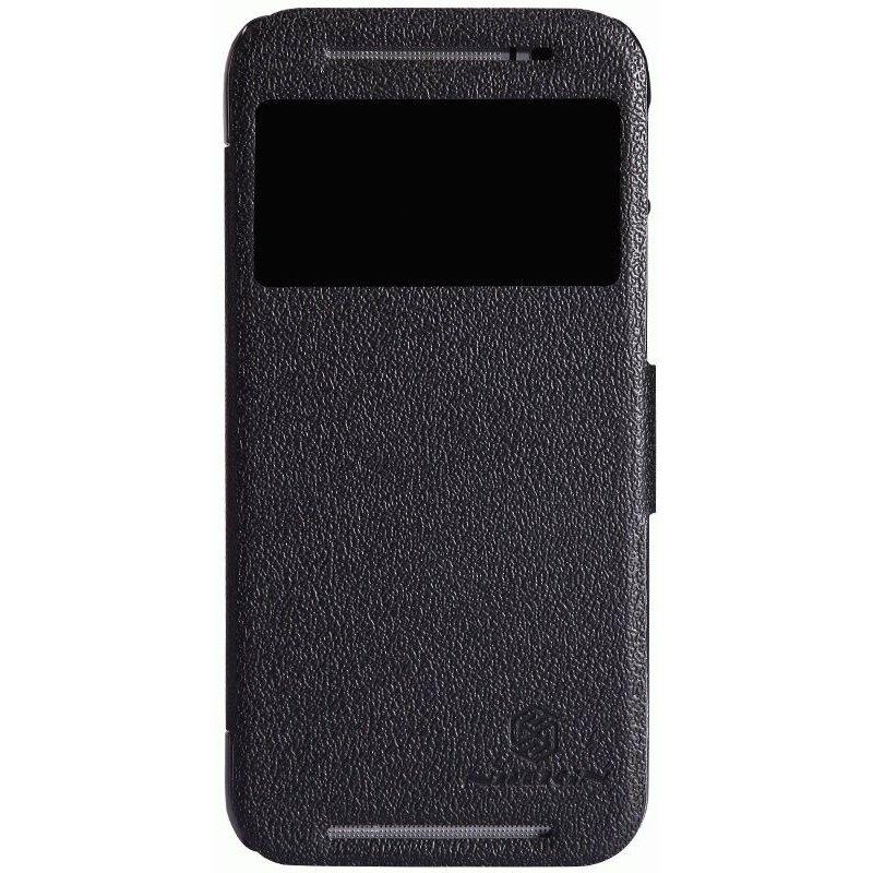 Кожаный чехол Nillkin Fresh Series для HTC New One M8 Black
