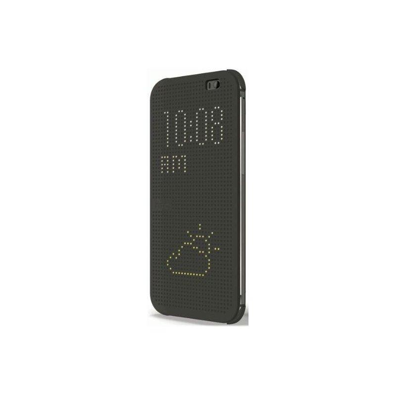 Оригинальный чехол для HTC One (M8) Dot View Cover HC M100 Gray