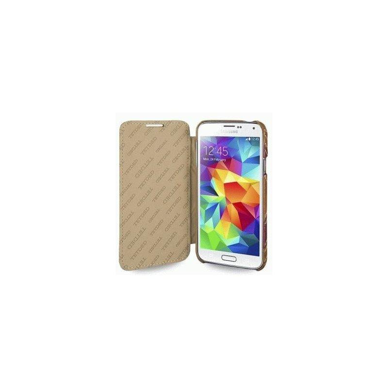 Кожаный чехол Tetded Book Aether series для Samsung Galaxy S5 G900 Toffe Yellow