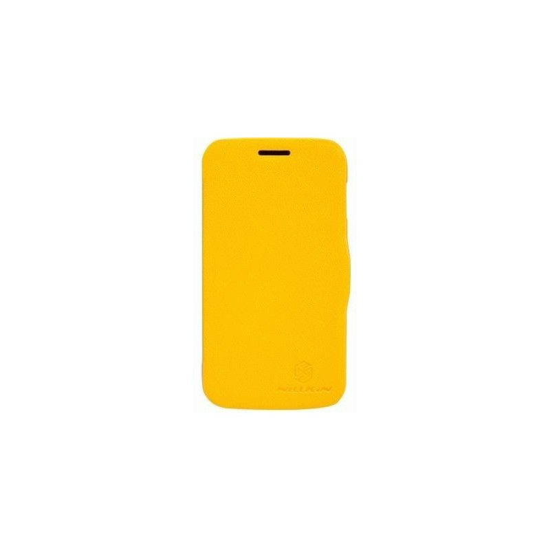 Кожаный чехол Nillkin Fresh для Samsung Galaxy Ace 3 S7272 Yellow