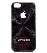 Чехол Denis Simachev для iPhone 5/5S Цветы Черные
