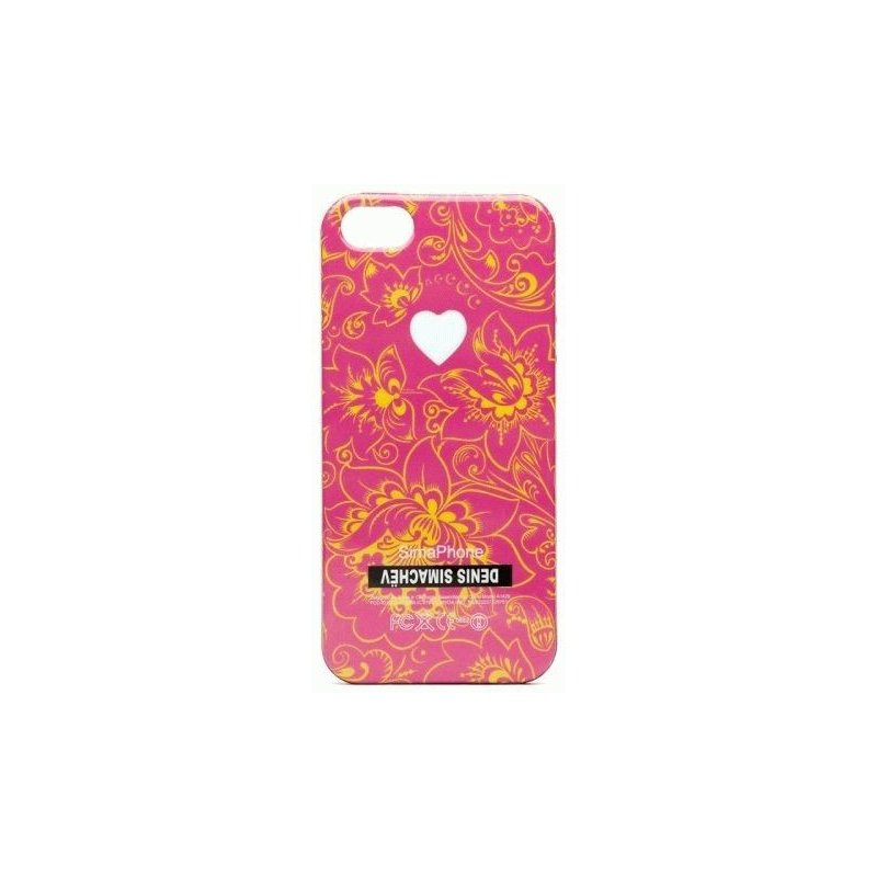 Чехол Denis Simachev для iPhone 5/5S Цветы Розовые