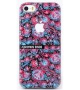 Чехол Denis Simachev для iPhone 5/5S Роспись Сиреневая