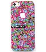 Чехол Denis Simachev для iPhone 5/5S Роспись Розовая