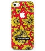 Чехол Denis Simachev для iPhone 5/5S Хохлома Желтая