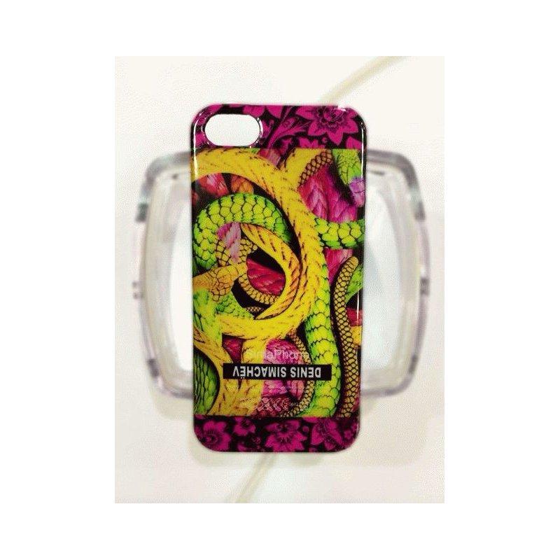 Чехол Denis Simachev для iPhone 5/5S Змея Розовая
