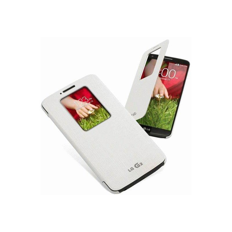 Чехол LG QuickWindow для LG G2 D802 White